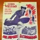 Cine: DES JUPONS A L'HORIZON 1952 AFFICHES GAILLARD. PARIS. FALDAS A BORDO. Lote 96670267