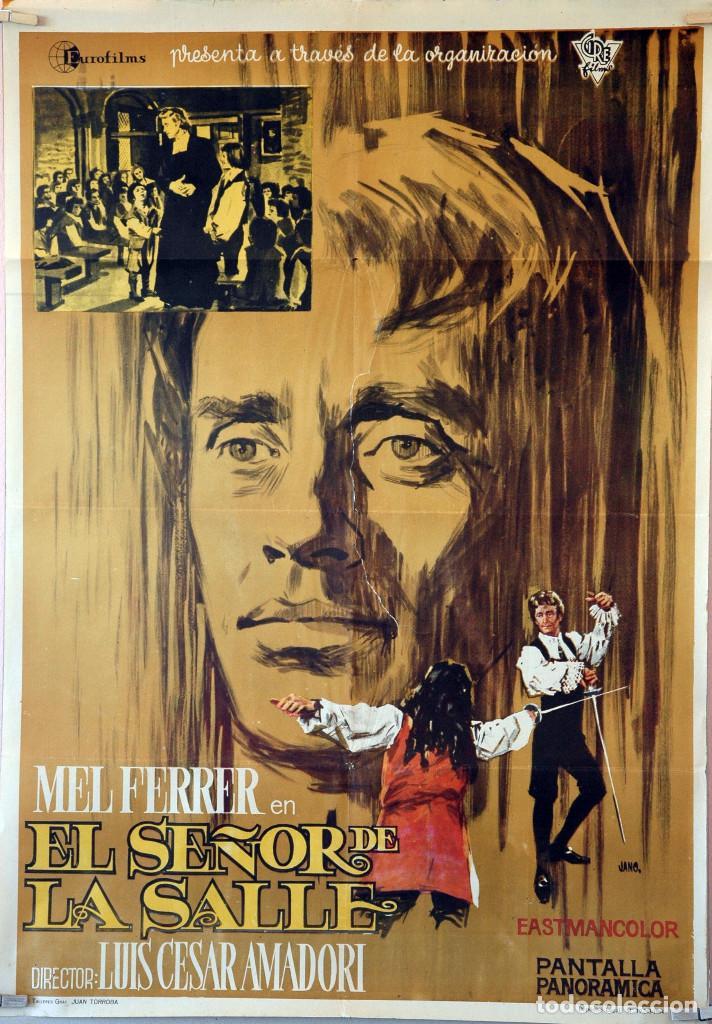 EL SEÑOR DE LA SALLE. MEL FERRER-LUIS CÉSAR AMADORI. CARTEL ORIGINAL 1964. 70X100 (Cine - Posters y Carteles - Clasico Español)