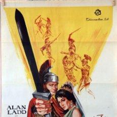 Cine: LA ESPADA DEL VENCEDOR. ALAN LADD-TERENCE YOUNG. CARTEL ORIGINAL 1964. 70X100. Lote 96690587