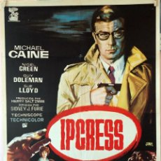 Cine: IPCRESS. MICHAEL CAINE-SIDNEY FURIE. CARTEL ORIGINAL 1965. 70X100. Lote 96691831
