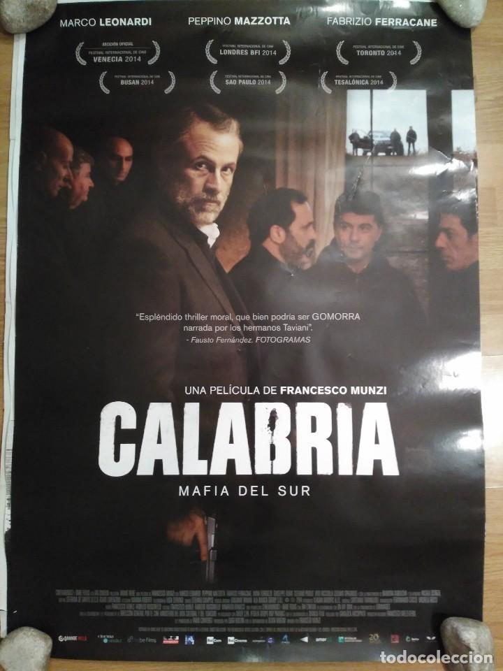 CALABRIA, MAFIA DEL SUR - APROX 70X100 CARTEL ORIGINAL CINE (L48) (Cine- Posters y Carteles - Drama)