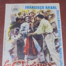 Cine: CARTEL. LOS CLARINES DEL MIEDO. FRANCISCO RABAL. 100 X 70CM. Lote 97026811