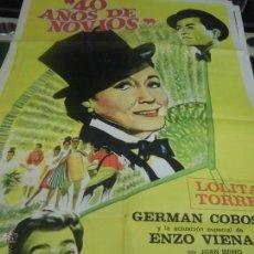 Cine: LOLITA TORRES CARTEL DE LA PELICULA 40 AÑOS DE NOVIOS 100 X 70 CTMS EDITADO EN ARGENTINA. Lote 40956797