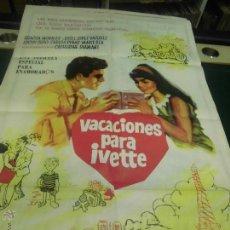 Cine: GRACITA MORALES JOSE LUIS LOPEZ VAZQUEZ CARTEL DE LA PELICULA VACACIONES PARA IVETTE 100 X 70 CTMS. Lote 40957090