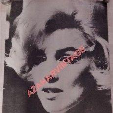 Cine: ESPECTACULAR POSTER CARTEL DE MARILYN MONROE, 1971, 49X69 CMS. Lote 97151327