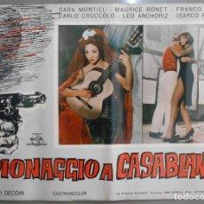 Cine: XX64 NOCHES DE CASABLANCA SARA MONTIEL SET DE 4 POSTERS ITALIANO 47X68. Lote 97235795