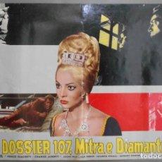 Cine: XX65 SAMBA SARA MONTIEL RAFAEL GIL ESPECTACULAR SET DE 9 POSTERS ITALIANO 47X68. Lote 97236675