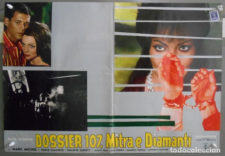 Cine: XX65 SAMBA SARA MONTIEL RAFAEL GIL ESPECTACULAR SET DE 9 POSTERS ITALIANO 47X68 - Foto 2 - 97236675