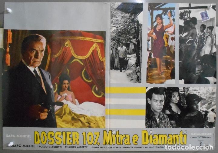 Cine: XX65 SAMBA SARA MONTIEL RAFAEL GIL ESPECTACULAR SET DE 9 POSTERS ITALIANO 47X68 - Foto 3 - 97236675