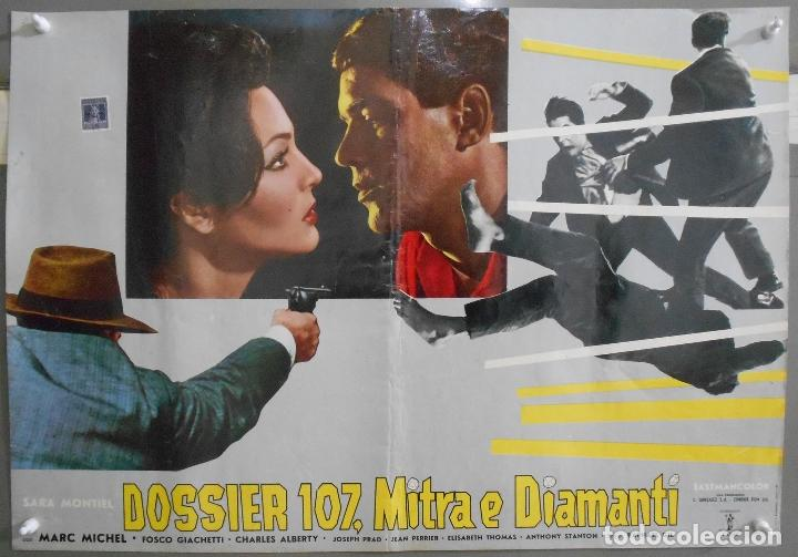 Cine: XX65 SAMBA SARA MONTIEL RAFAEL GIL ESPECTACULAR SET DE 9 POSTERS ITALIANO 47X68 - Foto 5 - 97236675