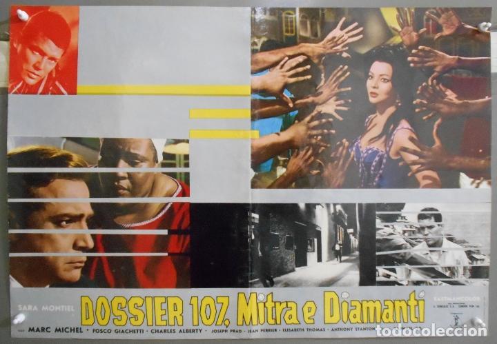 Cine: XX65 SAMBA SARA MONTIEL RAFAEL GIL ESPECTACULAR SET DE 9 POSTERS ITALIANO 47X68 - Foto 6 - 97236675
