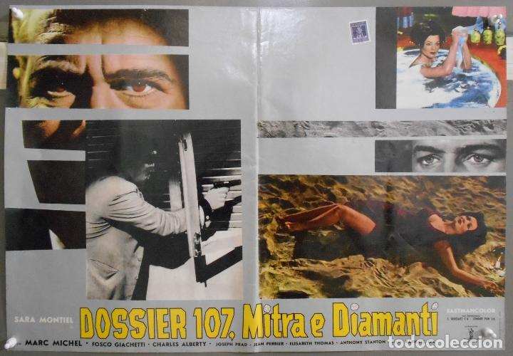 Cine: XX65 SAMBA SARA MONTIEL RAFAEL GIL ESPECTACULAR SET DE 9 POSTERS ITALIANO 47X68 - Foto 7 - 97236675
