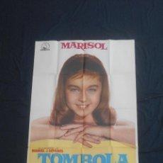 Cine: MARISOL - CARTEL ORIGINAL DE LA PELICULA TOMBOLA MIDE 100 X 70 CMS.. Lote 97292779