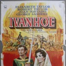 Cine: XY15 IVANHOE ROBERT TAYLOR ELIZABETH TAYLOR POSTER POSTER ORIGINAL 70X100 ESPAÑOL. Lote 97306767