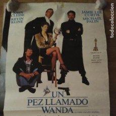 Cine: UN PEZ LLAMADO WANDA - APROX 70X100 CARTEL ORIGINAL VDCLUB (L46). Lote 97418303