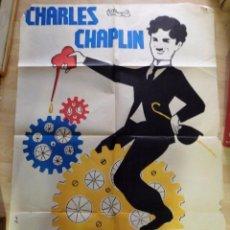 Cine: TIEMPOS MODERNOS CHARLES CHAPLIN POSTER ORIGINAL 70X100 ESPAÑOL. Lote 97427395