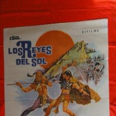 Cine: LOS REYES DEL SOL, POSTER ORIGINAL 1977, 70 X 100CMS. YUL BRINER GEORGE CHAKIRIS. Lote 97562611