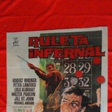 Cine: RULETA INFERNAL, POSTER ORIGINAL 70X100CMS. ROBERT WAGNER PETER LAWFORD, 1968. Lote 97568451