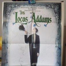 Cine: POSTER ORIGINAL LOS LOCOS ADAMS ANJELICA HUSTON CAREL STRUYCKEN BARRY SONNEFELD 1991 COLUMBIA. Lote 97647695