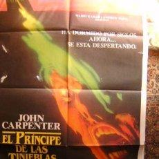 Cine: CARTELERA DE CINE PRINCIPE DE LAS TINIEBLAS MEDIDAS DE 7X100. Lote 97763763