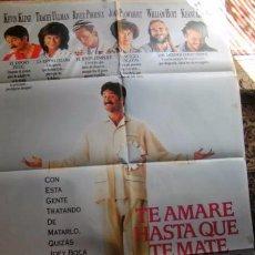 Cine: CARTELERA DE CINE EN SUBASTA A PARTIR 1€ TE AMARE HASTA QUE TE MATEY MEDIDAS DE 7X100. Lote 97764207
