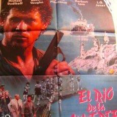 Cine: EL RIO DE LA MUERTE CARTELERA DE CINE EN SUBASTA A PARTIR 1€ Y MEDIDAS DE 7X100. Lote 101968840