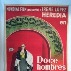 Cine: CARTEL DE CINE, DOCE HOMBRES Y UNA MUJER.AÑOS 30. POSTER ORIGINAL.. Lote 176542263