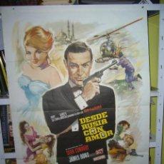 Cine: DESDE RUSIA CON AMOR JAMES BOND 007 SEAN CONNERY POSTER ORIGINAL 70X100 REPOSICION. Lote 97954427