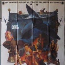 Cine: ((N6) LOS DIABLOS DEL MAR, JULIO VERNE, CARTEL DE CINE ORIGINAL 100X70 CM APROX. Lote 195016706