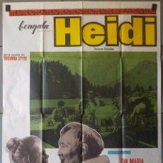 Cine: (N10) HEIDI, EVA MARIA SINCHAMMER, CARTEL DE CINE ORIGINAL 100X70 CM APROX. Lote 98062651