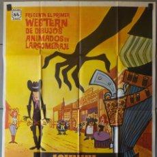 Cine: (N11) JOHNNY Y CLEMENTINA EN EL OESTE, ANIMACION, CARTEL DE CINE ORIGINAL 100X70 CM APROX. Lote 98062723