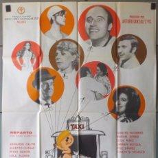 Cine: (N21) EL TAXI DE LOS CONFLICTOS, ALBERTO CLOSAS,MARISOL,LOLA FLORES,CARMEN SEVILLA, CARTEL DE CINE O. Lote 179318395