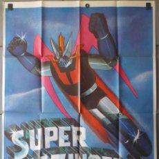 Cine: (N29) SUPER MAZINGER Z, ANIMACION, CARTEL DE CINE ORIGINAL 100X70 CM APROX. Lote 104501702