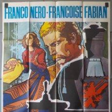 Cine: (N46) POR QUE SE ASESINA A UN MAGISTRADO, FRANCO NERO,FRANCOISE FABIAN, CARTEL DE CINE ORIGINAL 100X. Lote 98071863