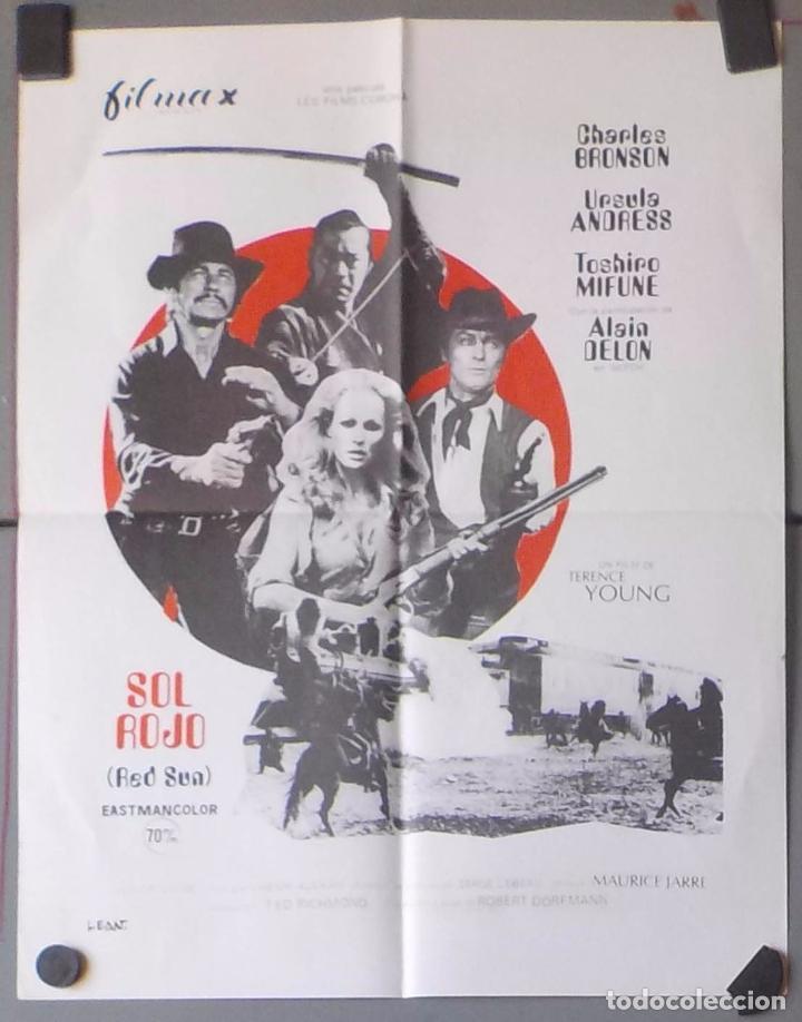 (N52) SOL ROJO, CHARLES BRONSON,URSULA ANDRESS,ALAIN DELON,CARTEL DE CINE ORIGINAL 39X30 CM APROX (Cine - Posters y Carteles - Westerns)