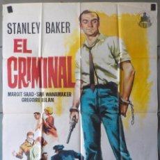 Cine: (N55) EL CRIMINAL, STANLEY BAKER JOSEPH LOSEY, CARTEL DE CINE ORIGINAL 100X70 CM APROX. Lote 216965248