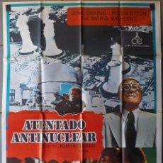 Cine: (N59) ATENTADO ANTINUCLEAR, JENS OKKING,PETER STEEN, CARTEL DE CINE ORIGINAL 100X70 CM APROX. Lote 98073899
