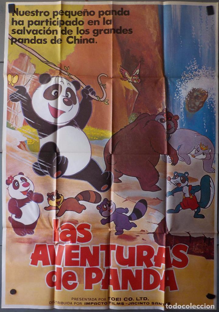 (N62) LAS AVENTURAS DE PANDA, ANIMACION, CARTEL DE CINE ORIGINAL 100X70 CM APROX (Cine - Posters y Carteles - Infantil)