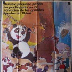 Cine: (N62) LAS AVENTURAS DE PANDA, ANIMACION, CARTEL DE CINE ORIGINAL 100X70 CM APROX. Lote 98074019