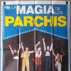 Cine: (N64) LA MAGIA DE LOS PARCHIS, PARCHIS, CARTEL DE CINE ORIGINAL 100X70 CM APROX. Lote 187486402