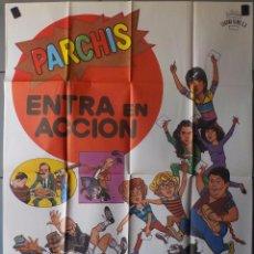 Cine: (N81) PARCHIS ENTRA EN ACCION, PARCHIS,JANO, CARTEL DE CINE ORIGINAL 100X70 CM APROX. Lote 130343692