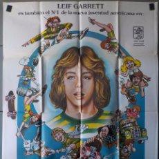 Cine: (N91) SKATEBOARD, LEIF GARRETT, CARTEL DE CINE ORIGINAL 100X70 CM APROX. Lote 171053525