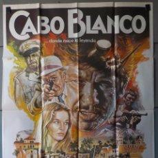 Cine: (N100) CABO BLANCO, CHARLES BRONSON,JASON ROBARDS,FERNANDO REY,MAC, CARTEL DE CINE ORIGINAL 100X70 C. Lote 275988628