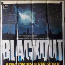 Cine: (N101) BLACKOUT,APAGON EN NEW YORK, JIM MITCHUM, ROBERT CARRADINE, BELINDA J.MONTGOMERY, CARTEL DE C. Lote 98078739