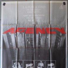 Cine: (N118) AGENCY, ROBERT MITCHUM,LEE MAJORS,VALERIE PERRINE, CARTEL DE CINE ORIGINAL 100X70 CM APROX. Lote 98079891