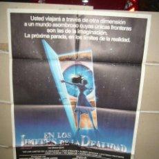 Cine: EN LOS LIMITES DE LA REALIDAD SPIELBERG DANTE LANDIS POSTER ORIGINAL 70X100 Q DEL ESTRENO . Lote 98087223