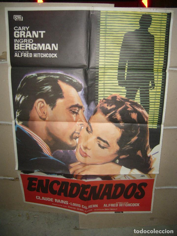 ENCADENADOS HITCHCOCK CARY GRANT BERGMAN POSTER ORIGINAL 70X100 Q JANO (Cine- Posters y Carteles - Drama)
