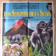 Cine: CARTEL ORIGINAL DEL ESTRENO DE : LOS SEÑORES DE LA SELVA. FOX.. Lote 98099735
