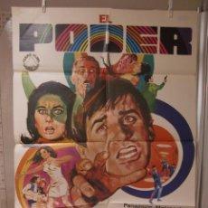 Cine: CARTEL CINE ORIG EL PODER (1968) 70X100 / GEORGE HAMILTON / SUZANNE PLESHETTE / JANO. Lote 98136783