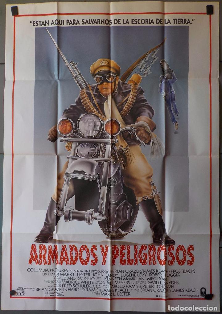 (N145) ARMADOS Y PELIGROSOS, MEG RYAN,KENNETH MCMILLAN, CARTEL DE CINE ORIGINAL 100X70 CM APROX (Cine - Posters y Carteles - Acción)